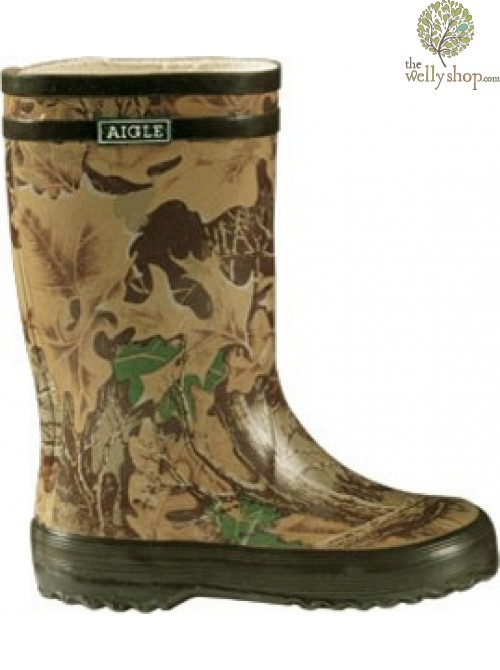 Aigle Lollypop Childrens Wellies - Camouflage - LAST PAIR SIZE EU 20
