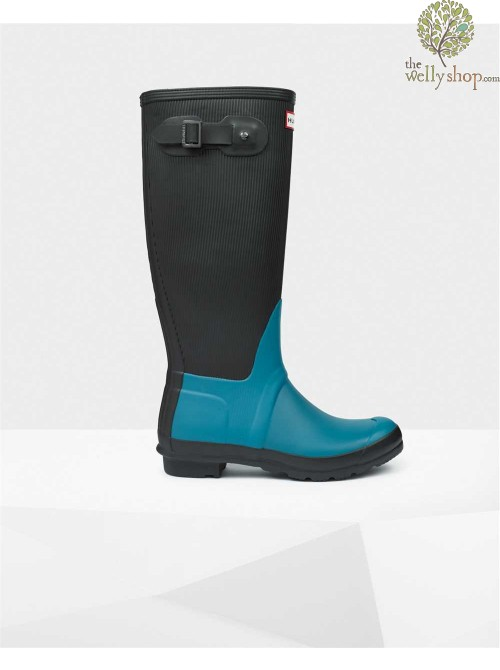 Hunter Original Tall Ribbed Leg Wellington Boots