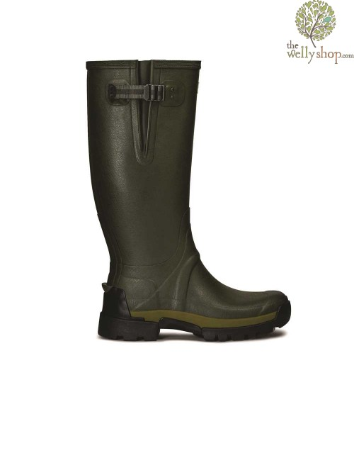 Hunter Men's Balmoral Bamboo Carbon Boots Dark Olive