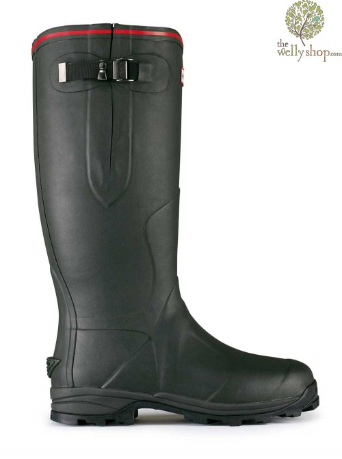 Hunter Balmoral Royal Adjustable Calf Sporting Wellingtons Leather Lined Leg Neoprene Lined Foot