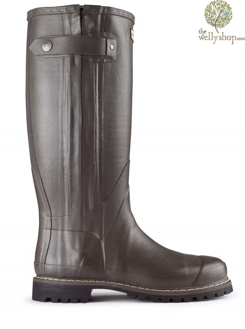 DISCONTINUED - Hunter Balmoral Sovereign Rubber Boots with Leather Lining Zip Vibram Sole