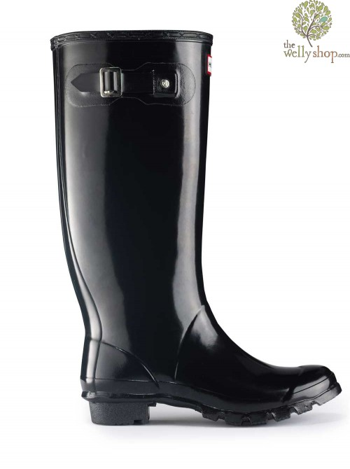 Hunter Huntress Tall Original Wide Calf Gloss Wellington Boots
