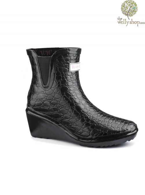 Wedge Welly Man Eater Chelsea Ankle Boots