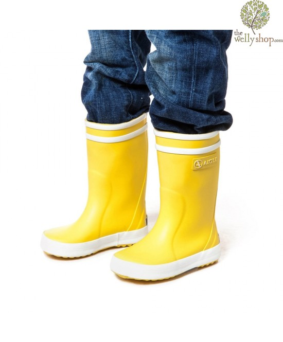 Aigle Lollypop Childrens Wellies Yellow