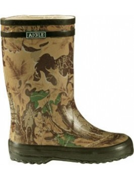 Aigle Lollypop Childrens Wellies - Camouflage