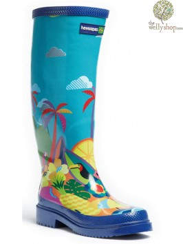 HAVAIANAS TALL LADIES BOOTS SUMMER PRINT (AVAILABLE IN UK SIZES EU36 - EU42)
