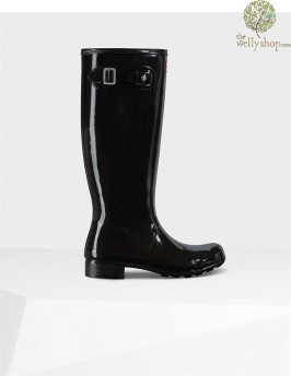 Hunter Original Tall Women's Gloss Tour Foldable Wellies