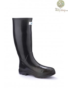 Miss Predictable Black Gloss Splash Wellies (standard fit)