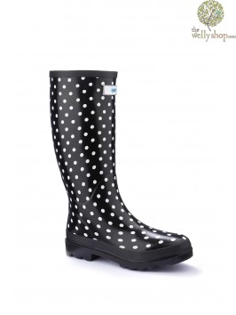 Miss Chic White Spot Splash Wellies (standard fit)