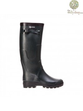 Aigle Benyl M Sporting Wellingtons Dark Green (Bronze)