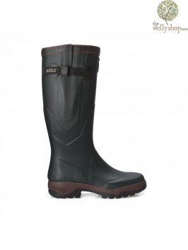 New Aigle Parcours 2 Vario Walking Wellington Boots - Green (Bronze)