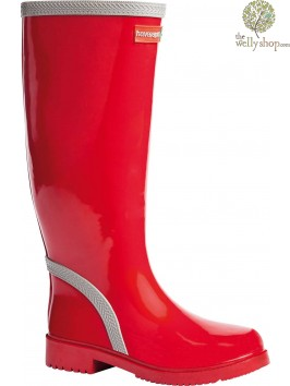 HAVAIANAS TALL LADIES BOOTS RED GREY (AVAILABLE IN UK SIZES EU36 - EU42)