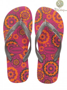 HAVAIANAS SPRING PRINT FLIP FLOPS (AVAILABLE IN UK SIZES EU35/36 - EU39/40)