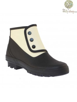 """""""Al Capone"""" Spats - Black And White Vintage Style Wellies"""