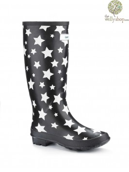Miss Starry Eyed Splash Wellies (wide fit)