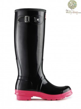 Hunter Original Tall Festival Fluoroscent Wellies LAST PAIR UK 3